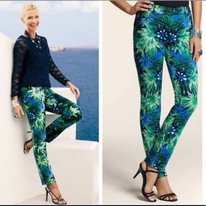 Chico's Tropical Palms Ankle Pants NWT